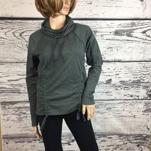 Lucy - Lean & Mean Funnel Neck Pullover - Medium